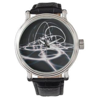 Futuristiskaabstrakt buktar bakgrund armbandsur