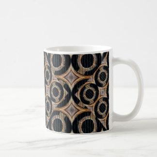 Futuristiskan cirklar det abstrakt mönster kaffemugg