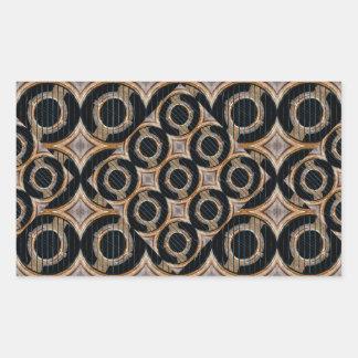 Futuristiskan cirklar det abstrakt mönster rektangulärt klistermärke