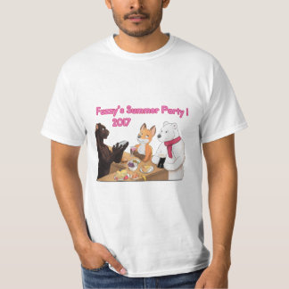 Fuzzy's Party, Summer 2017! Tshirts