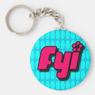 FYI Keychain Rund Nyckelring