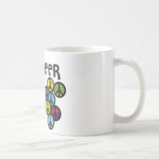 Fylld jubelfredssymboler kaffemugg