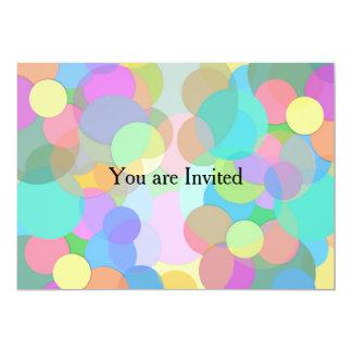 Fyllda Artsy och färg cirklar/bubblar 12,7 X 17,8 Cm Inbjudningskort