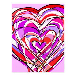 fyllt med hjärta och kärlek vykort