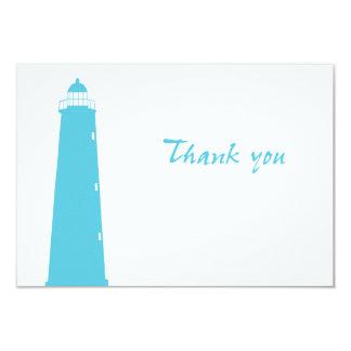 Fyr bröllop tacka-du kort 8,9 x 12,7 cm inbjudningskort