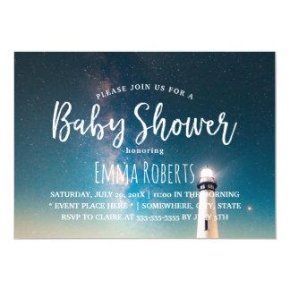 Fyr för baby showersommarnatt 12,7 x 17,8 cm inbjudningskort