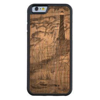 Fyr i stormen carved körsbär iPhone 6 bumper skal