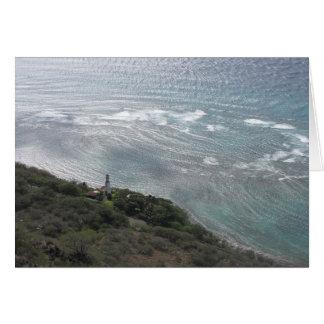 Fyr på Oahu Hälsningskort