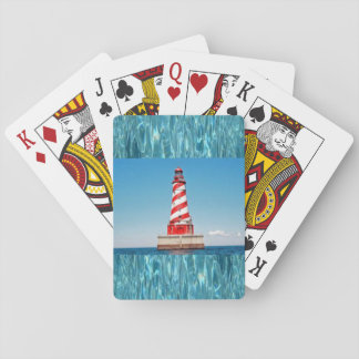 Fyr som leker kort spelkort