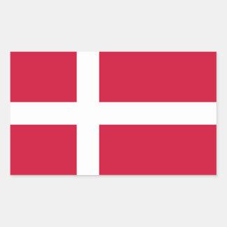 FYRA Danmark medborgareflagga Rektangulärt Klistermärke
