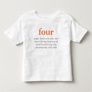 fyra födelsedag skjorta t shirt
