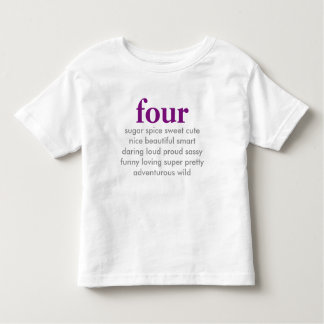 fyra födelsedag skjorta t-shirts