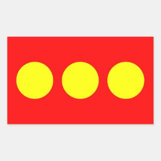 FYRA Freetown Christiania flagga Rektangulärt Klistermärke