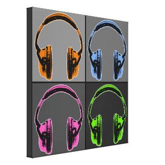 Fyra grafiska hörlurar canvastryck