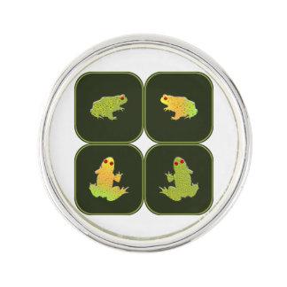 Fyra grodor kavajnål