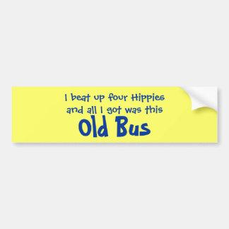 Fyra hippies och gammal bussbildekal bildekal