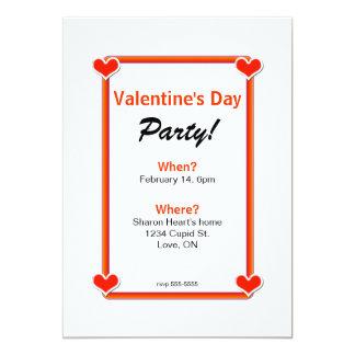 Fyra hjärtavalentin party för dag 12,7 x 17,8 cm inbjudningskort