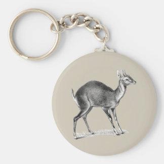Fyra-Horned antilop Rund Nyckelring
