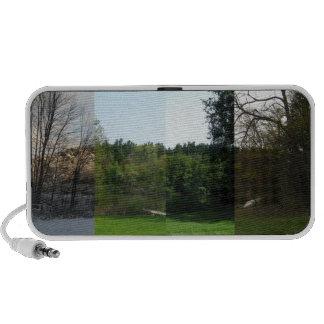 Fyra säsonger av den Saginaw skogen iPhone Högtalare