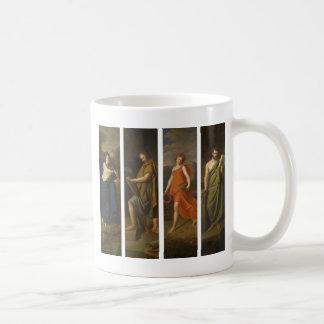 Fyra shoppar tecken (Hygieia, Hippocrates, Galen…) Kaffemugg