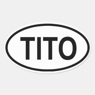 FYRA Tito Ovalt Klistermärke