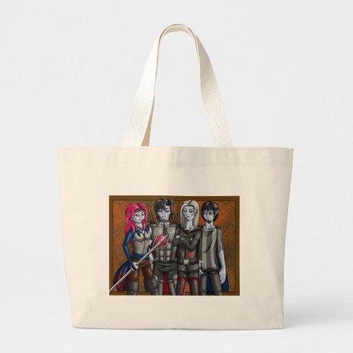 Fyra vampyrer hänger lös kassar