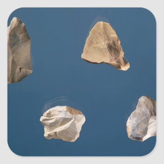 Fyra verktyg, 35000-10000 BC Fyrkantigt Klistermärke