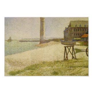 Fyren på Honfleur av Georges Seurat 8,9 X 12,7 Cm Inbjudningskort