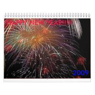 fyrverkerier 2009, GOTT NYTT ÅR!!!!! Kalender