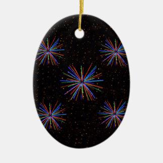 Fyrverkerier för nytt år 4th Juli 2016 Julgransprydnad Keramik