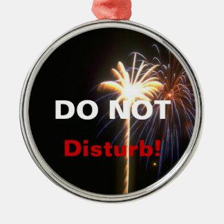 Fyrverkerier störer inte dörrhängareprydnaden julgransprydnad metall