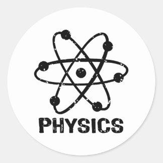 Fysik Rund Klistermärke