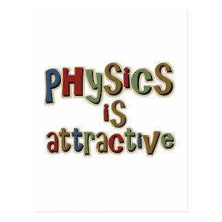 Fysiken är den attraktiva roliga vitsen vykort