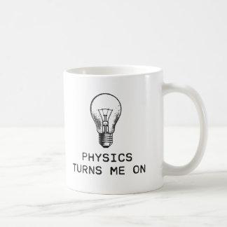 Fysiken vänder på mig kaffemugg