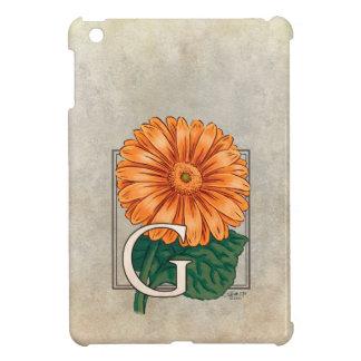 G för GerberasblommaMonogram iPad Mini Mobil Fodral
