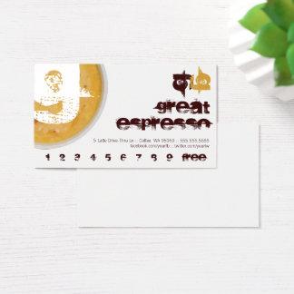 G - För kaffekopp för initialt brev Foamy Visitkort
