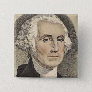 G Washington, Currier och Ives Standard Kanpp Fyrkantig 5.1 Cm