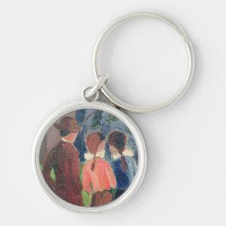 Gå, 1914 rund silverfärgad nyckelring