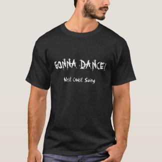 Gå att dansa den grundläggande mörka T-tröja Tee