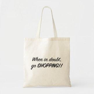 Gå att shoppa tygkasse