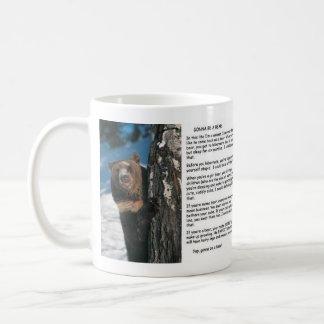 Gå att vara en björn kaffemugg