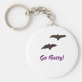 Gå Batty! Rund Nyckelring