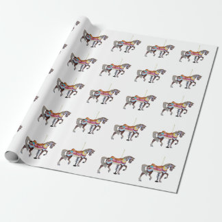 Gå den svart karusellhästen presentpapper