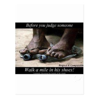Gå en Mile i deras skor Vykort