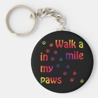 Gå en mile (kattdjuret) rund nyckelring