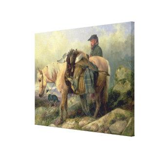 Gå från backen tillbaka, 1868 canvastryck