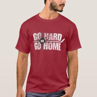 Gå hårt eller gå hem (hockey) t shirt