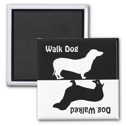 Gå hunden, den gick hunden, taxhundmagnet magneter