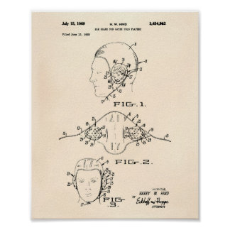 Gå i ax patenterad konst gammala Peper för Poster