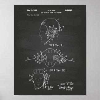 Gå i ax svart tavlan för konst för vaktvattenPolo Poster